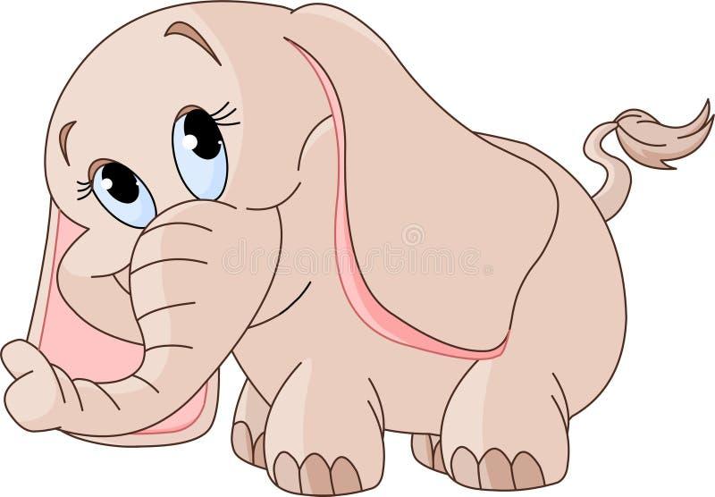 Weinig babyolifant stock illustratie