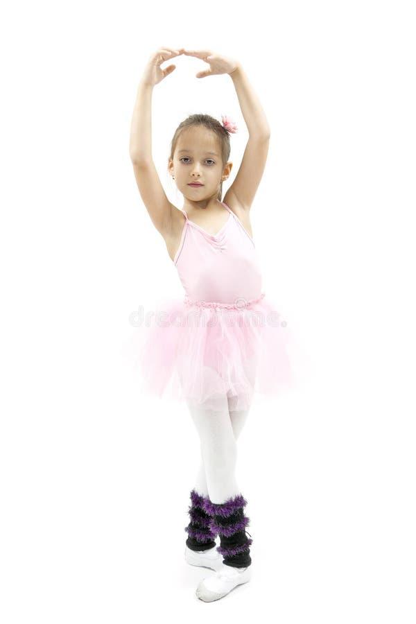 Weinig ballerina het dansen royalty-vrije stock afbeelding