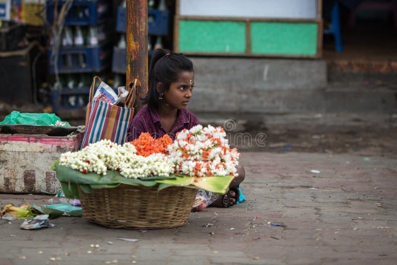 Weinig bloem-meisje stock foto's