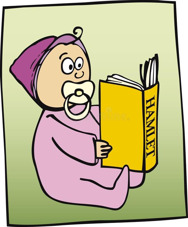 Weinig boek van de kindlezing royalty-vrije illustratie
