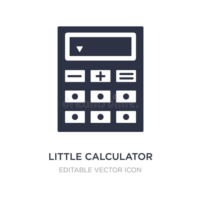 weinig calculatorpictogram op witte achtergrond Eenvoudige elementenillustratie van Algemeen concept royalty-vrije illustratie