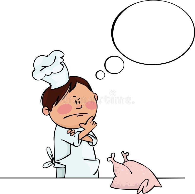 Weinig Chef-kok stock illustratie