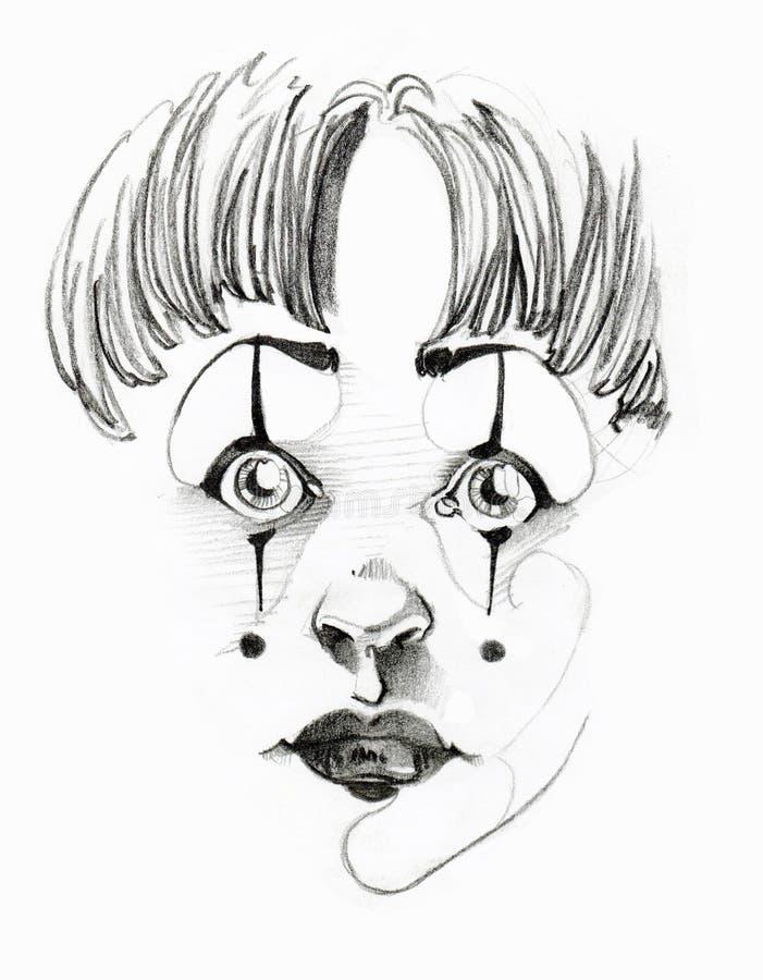 Weinig Clown royalty-vrije stock afbeeldingen