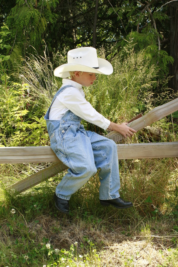 Weinig cowboy 2 stock foto's