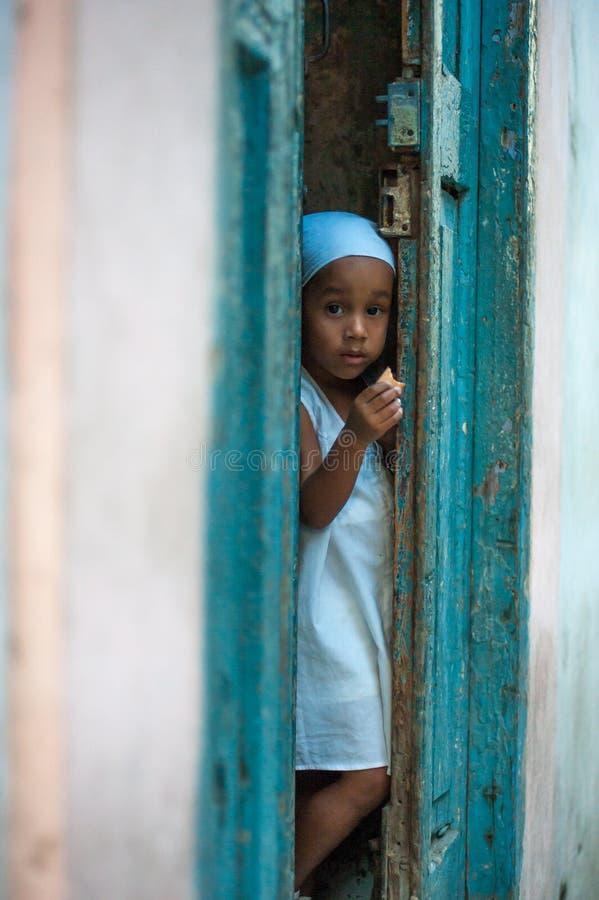 Weinig Cubaans Meisje stock fotografie