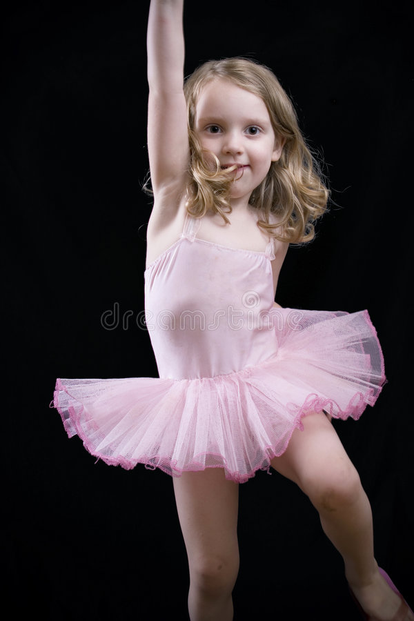 Weinig dansend meisje royalty-vrije stock fotografie