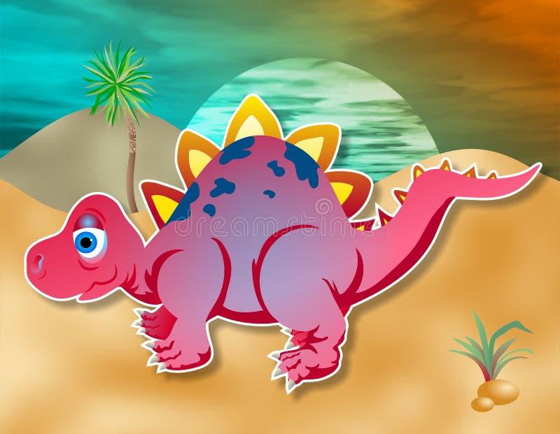 Download Weinig Dino stock illustratie. Illustratie bestaande uit zonsopgang - 42408