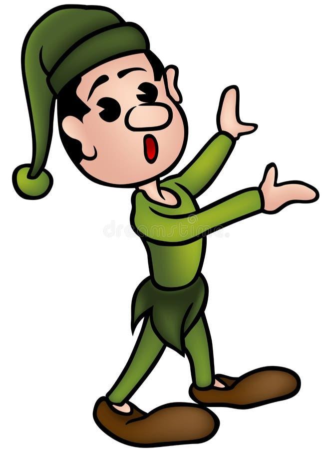 Weinig Elf vector illustratie
