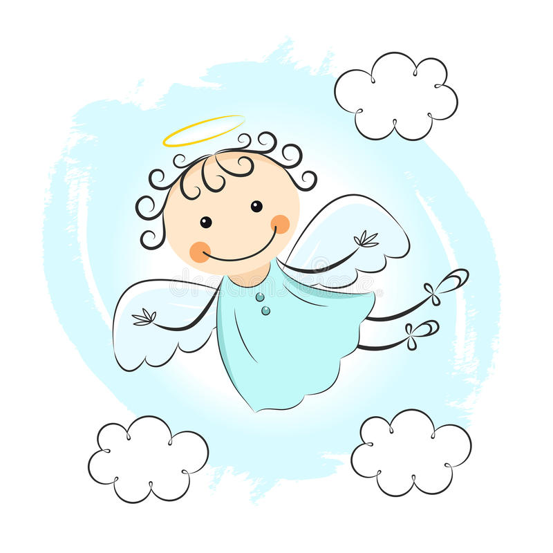 Weinig engel royalty-vrije illustratie