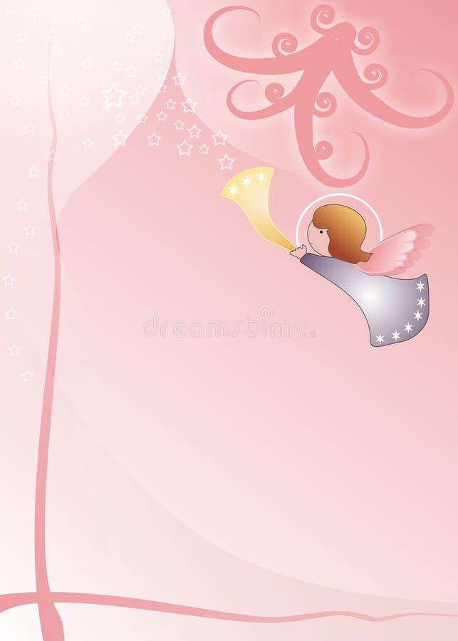 Weinig engelenachtergrond stock illustratie