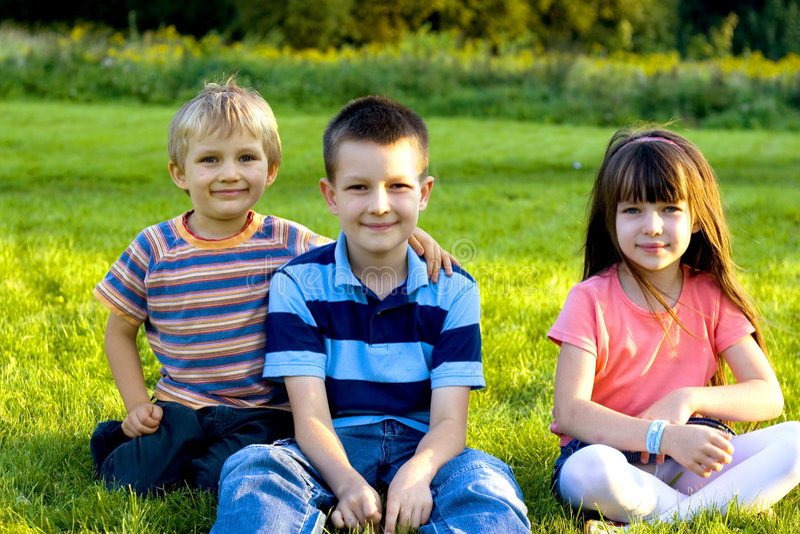 Weinig familie royalty-vrije stock foto