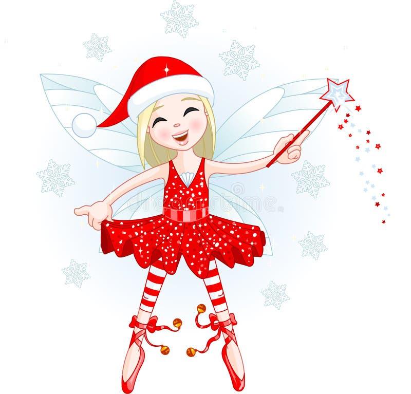 Weinig fee van Kerstmis vector illustratie