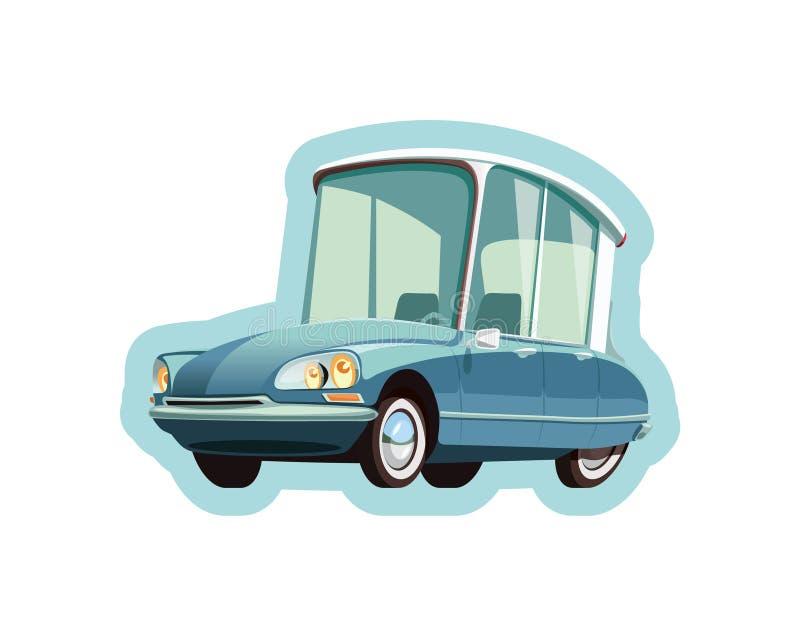 Weinig Franse blauwe auto vector illustratie