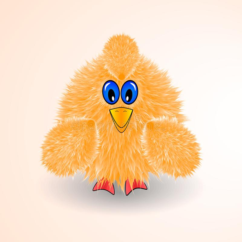 Weinig gele vogel, kip, weinig kip, pictogram vector illustratie
