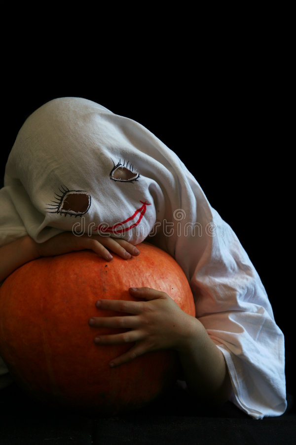 Weinig, grappig spook stock foto's