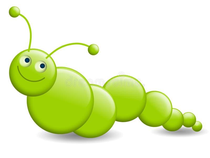 Weinig Groene Worm of Rups vector illustratie