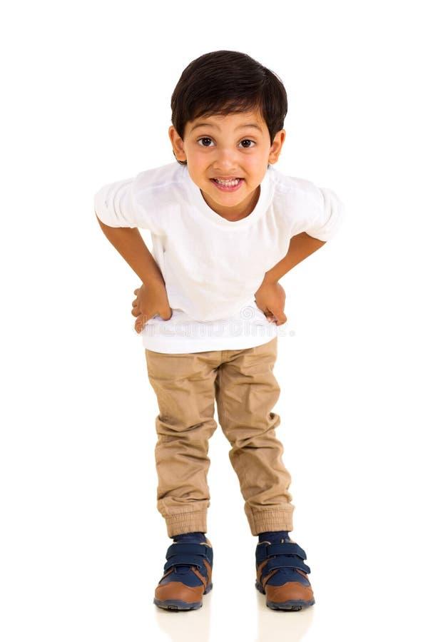 Weinig het Indische jongen stellen stock foto