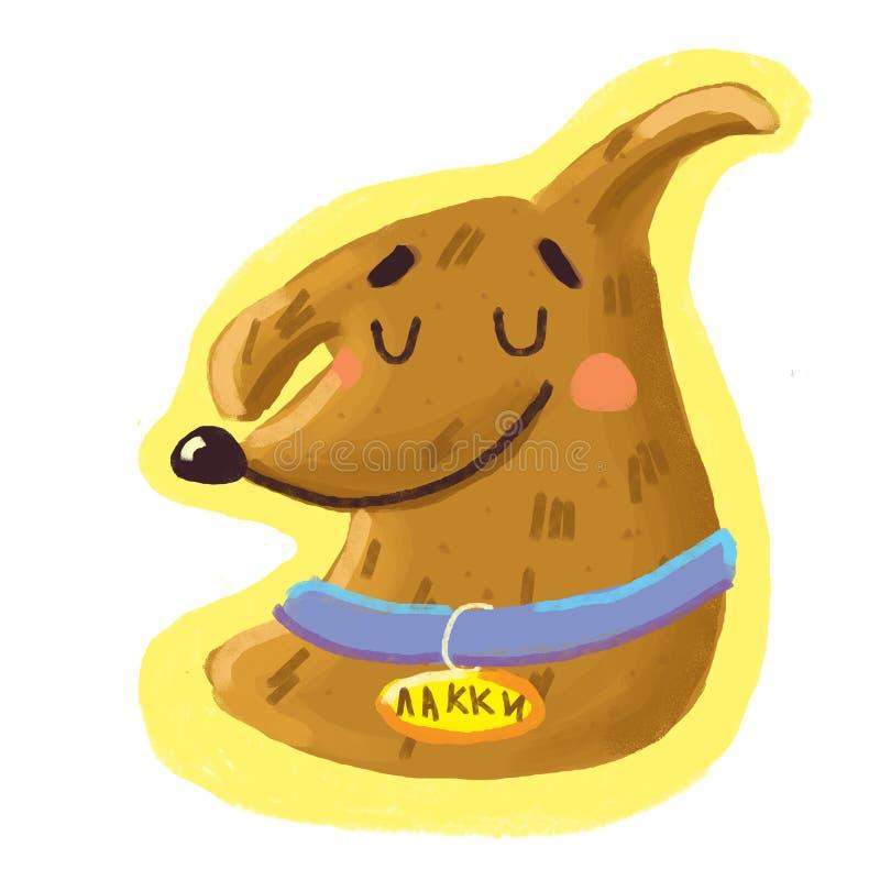 Weinig hondsticker het glimlachen royalty-vrije stock fotografie