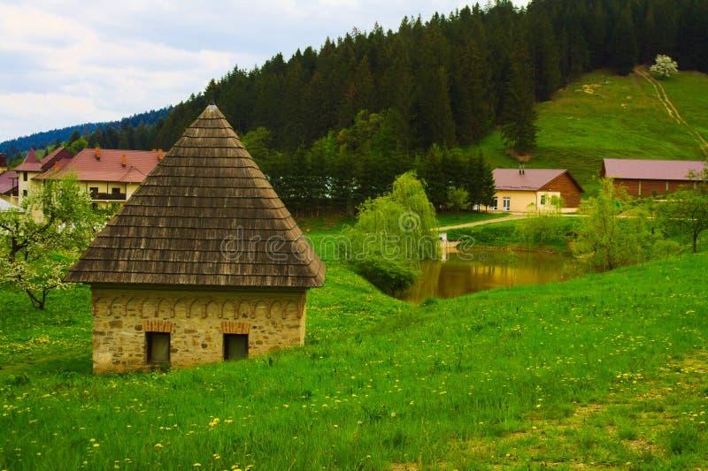 weinig huis în Suceviț a royalty-vrije stock afbeelding
