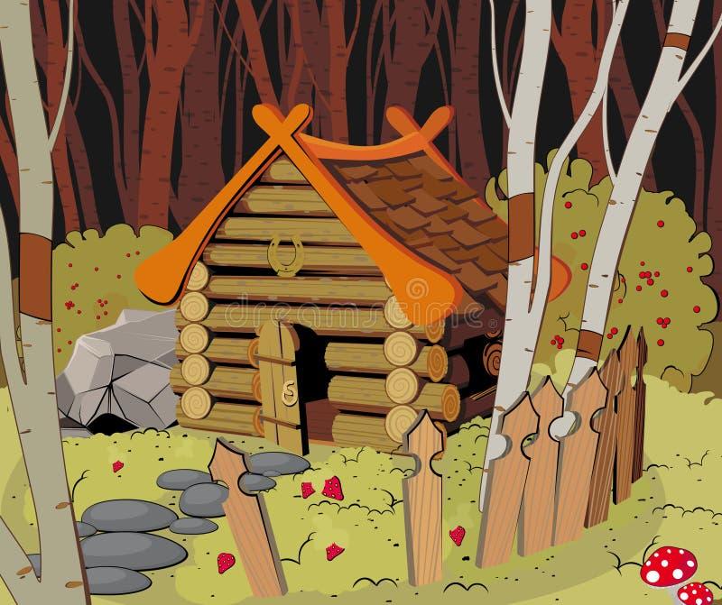 Weinig Huis in het Bos royalty-vrije illustratie