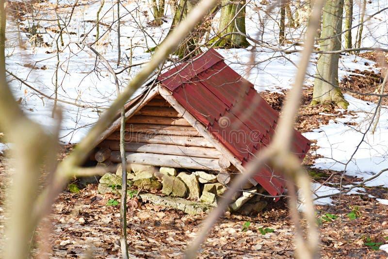 Weinig huis voor dwergen binnen het bos royalty-vrije stock fotografie