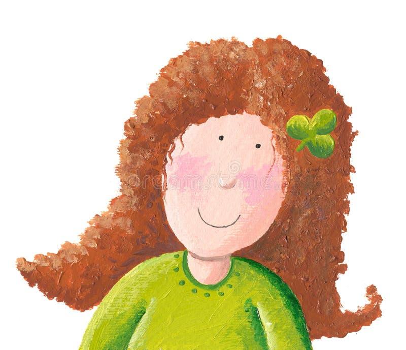 Weinig Iers Meisje vector illustratie