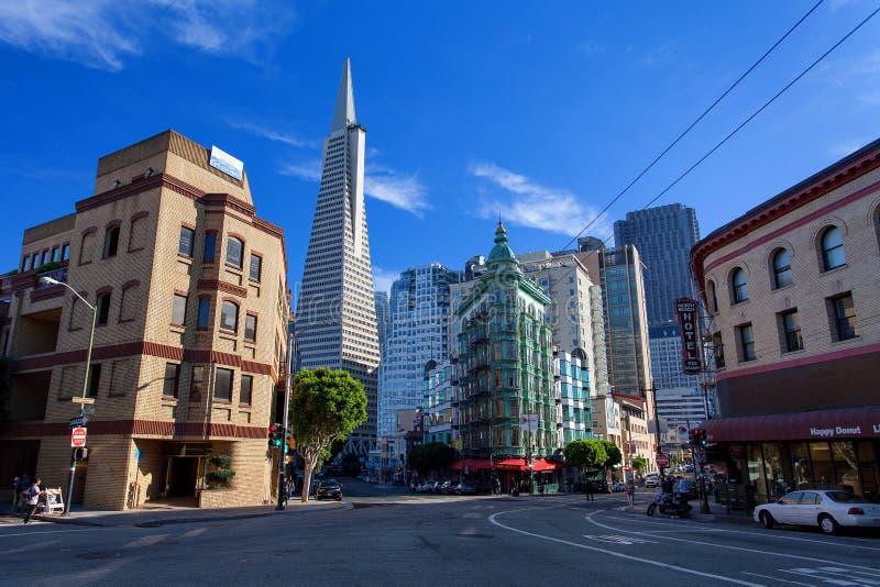 Weinig Italië, Financieel district, San Francisco van de binnenstad, Verenigde Staten royalty-vrije stock fotografie