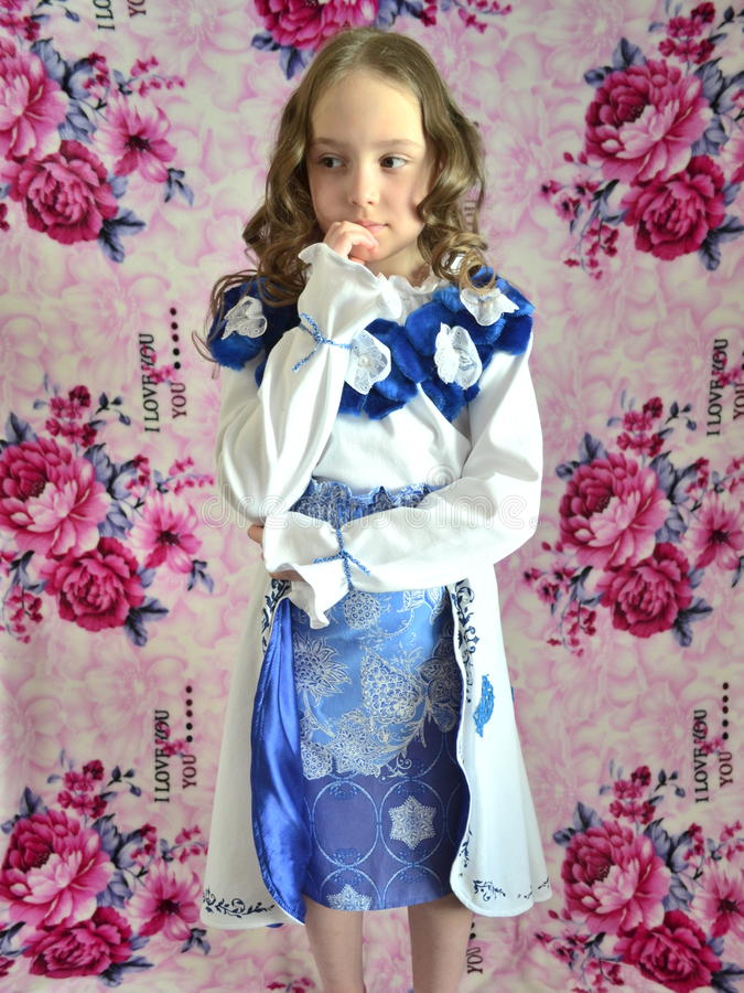Weinig jonge prinses royalty-vrije stock afbeelding
