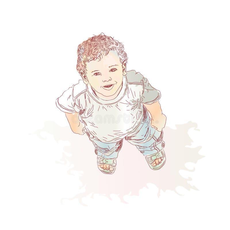 Weinig jongen royalty-vrije illustratie