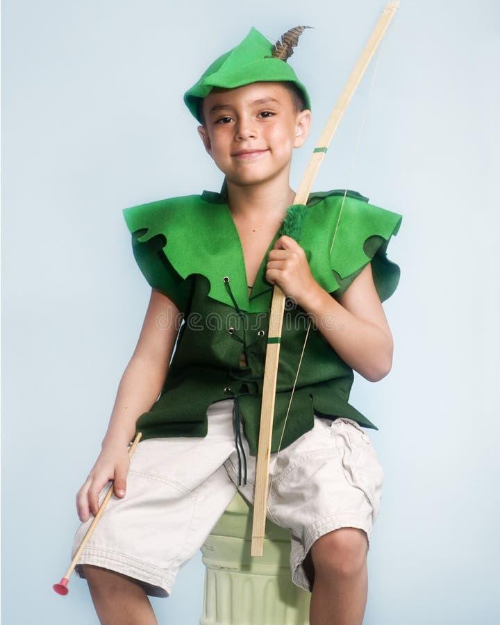 Weinig jongen Robin Hood stock foto's
