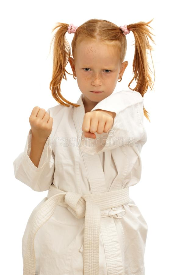 Weinig karatemeisje royalty-vrije stock foto's