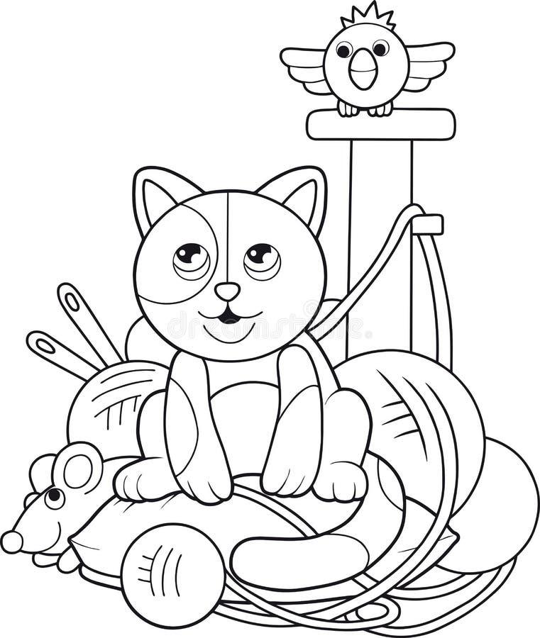 Weinig Katje stock illustratie