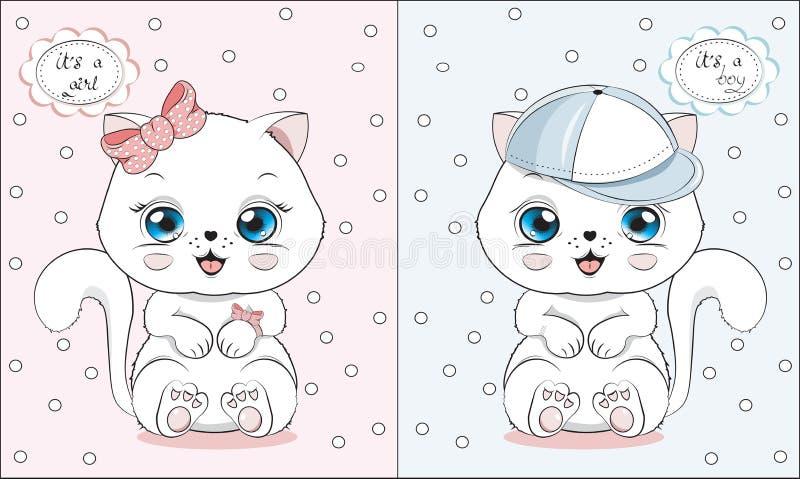 Weinig katje het is een meisje of een jongen stock illustratie