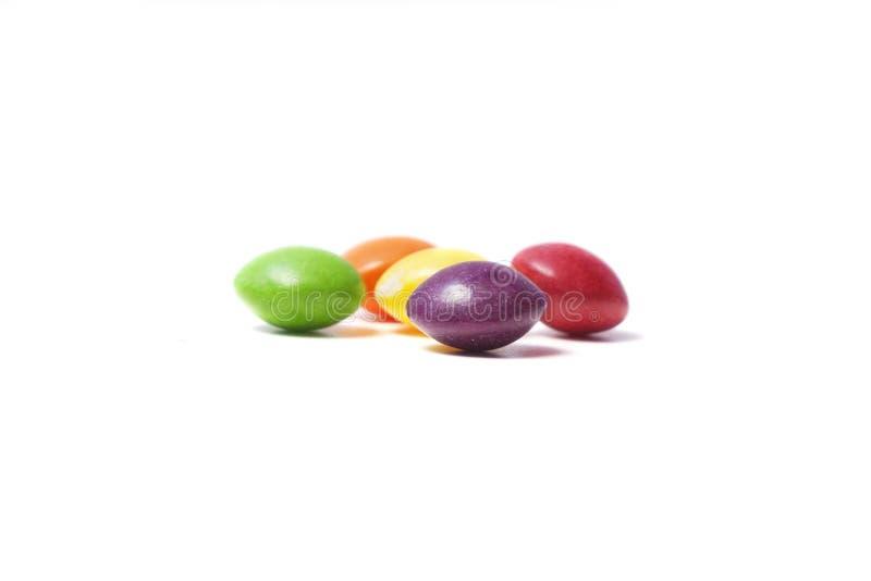 Weinig kleurrijk klein rond gemaakt suikergoed royalty-vrije stock afbeelding