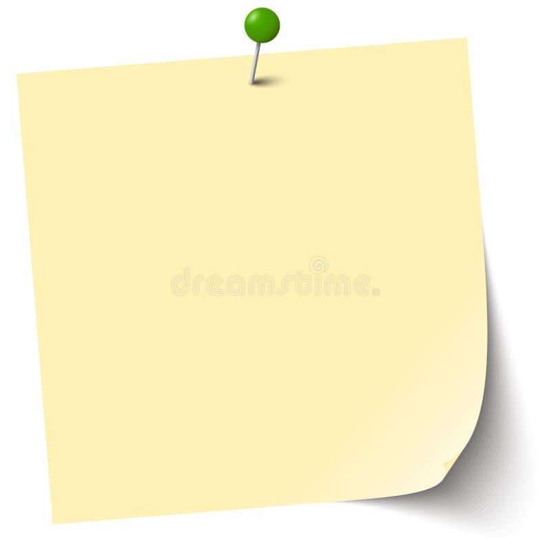 weinig kleverig geel document royalty-vrije illustratie