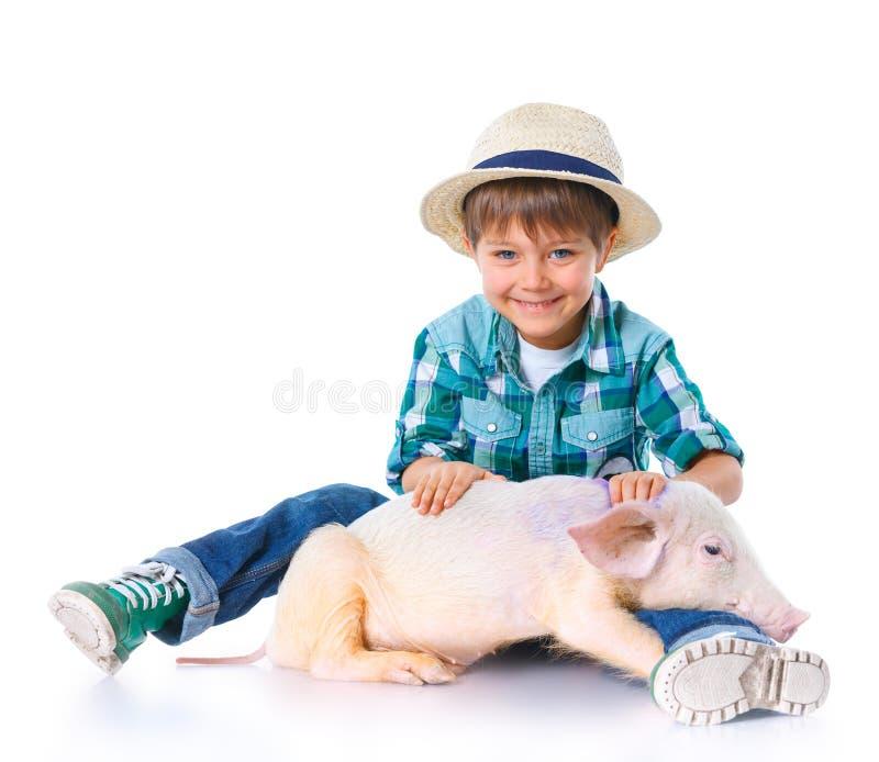 Weinig landbouwer. royalty-vrije stock afbeeldingen