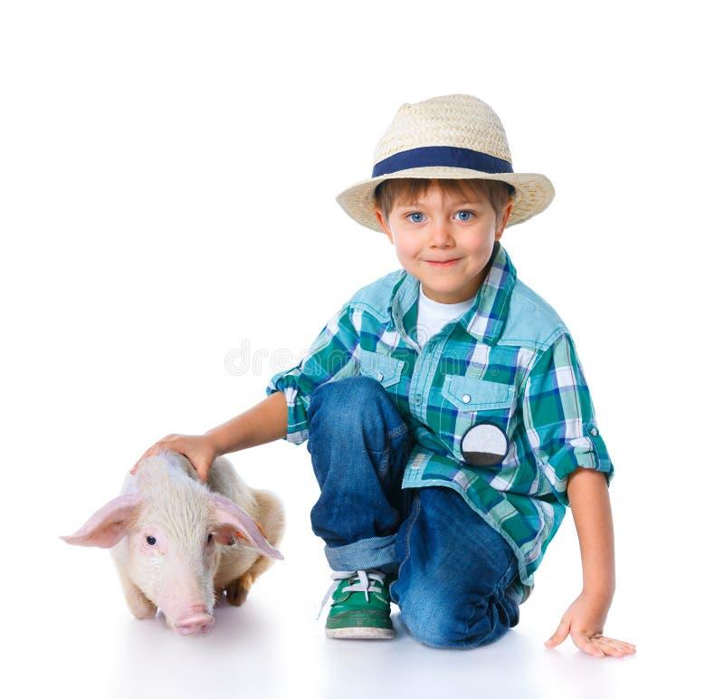 Weinig landbouwer. royalty-vrije stock afbeelding