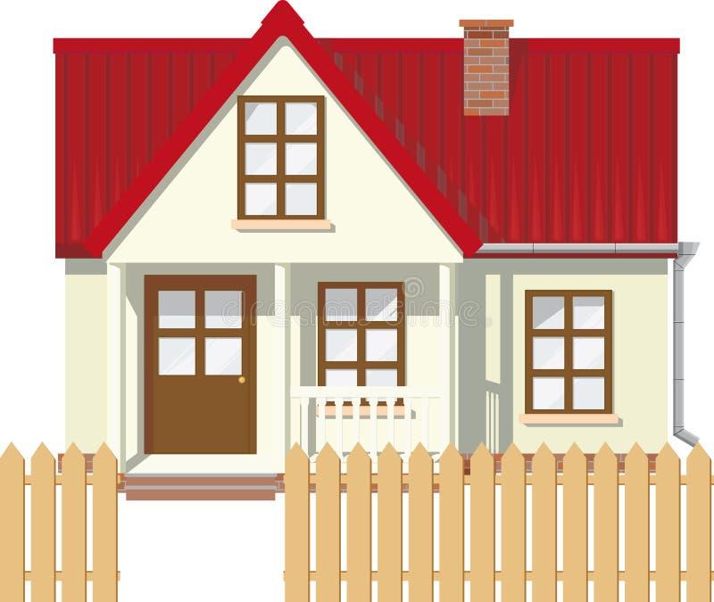 Weinig landelijk huis stock illustratie