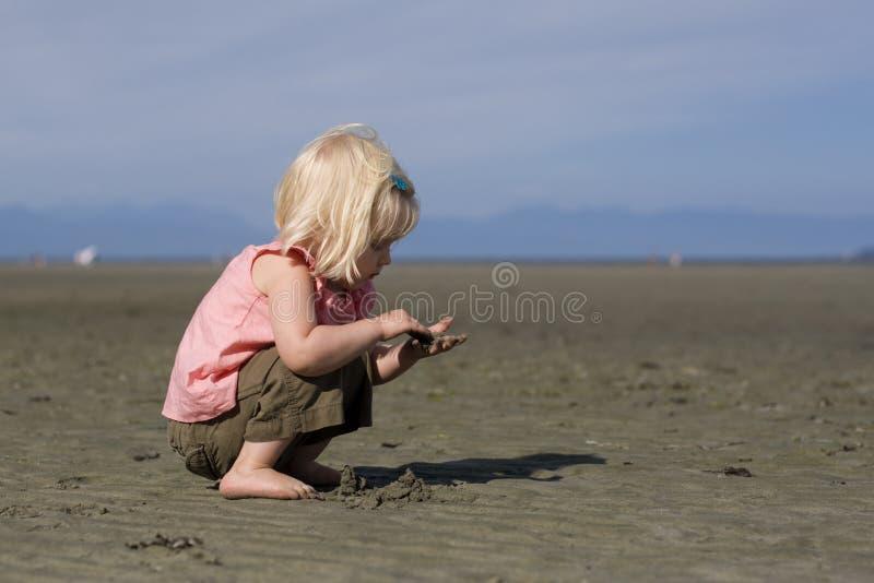 Weinig Lange strandgolf stock afbeeldingen
