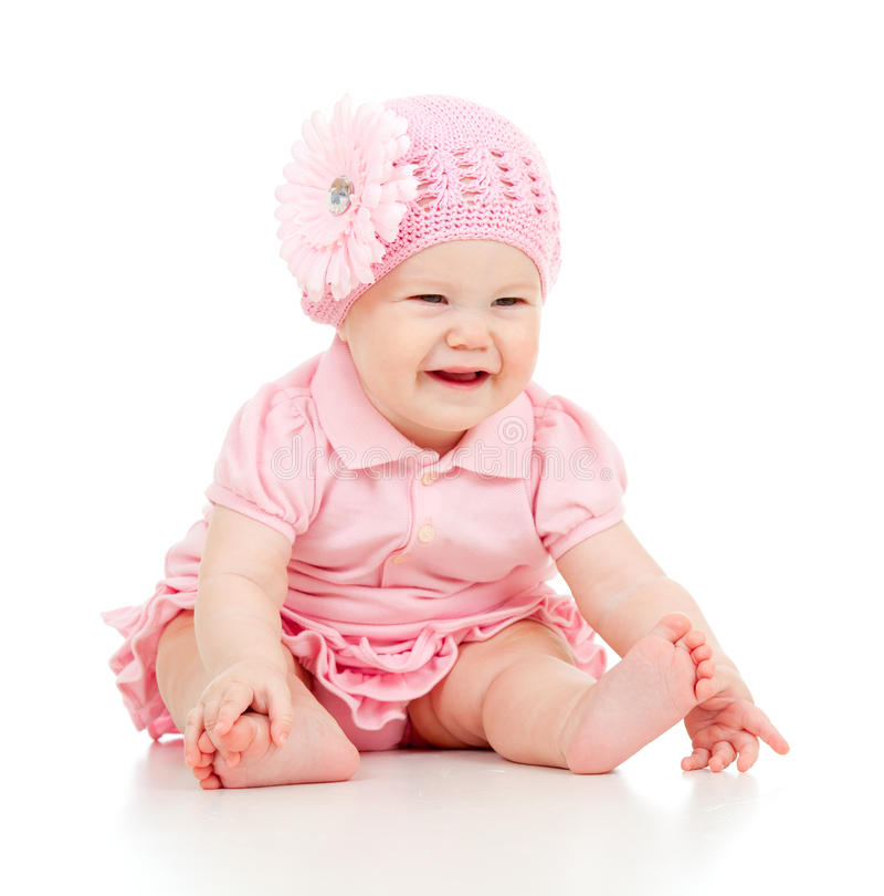 Weinig leuk baby meisje in roze kleding stock afbeelding afbeelding 22725923 for Foto slaapkamer baby meisje