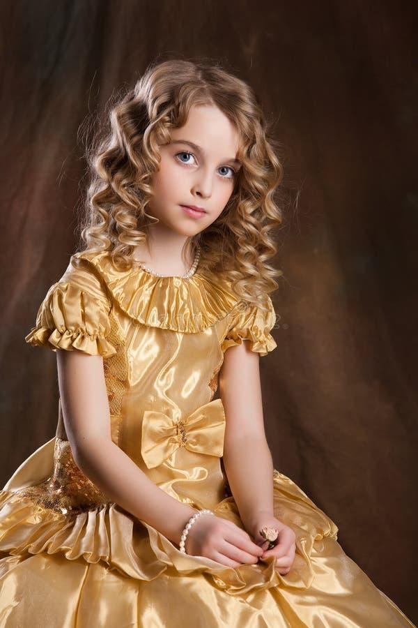 Weinig Meisje van de Blonde royalty-vrije stock afbeelding