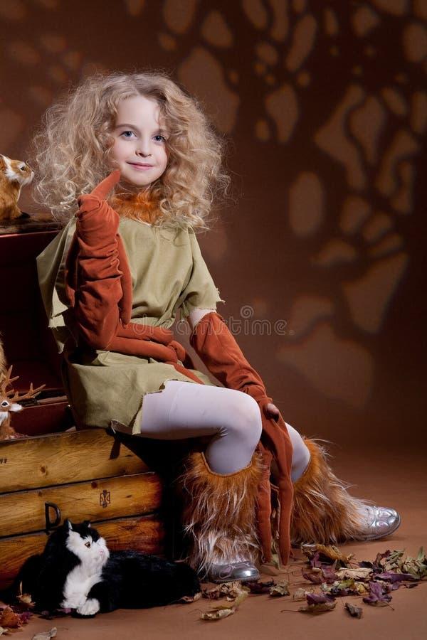 Weinig Meisje van de Blonde stock foto's