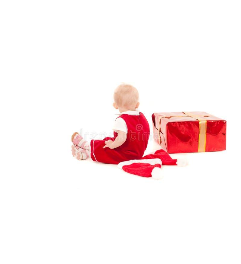 Weinig meisje van de Kerstmisbaby stock foto
