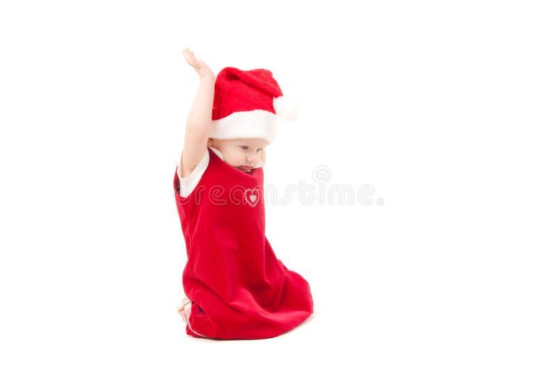 Weinig meisje van de Kerstmisbaby royalty-vrije stock foto's