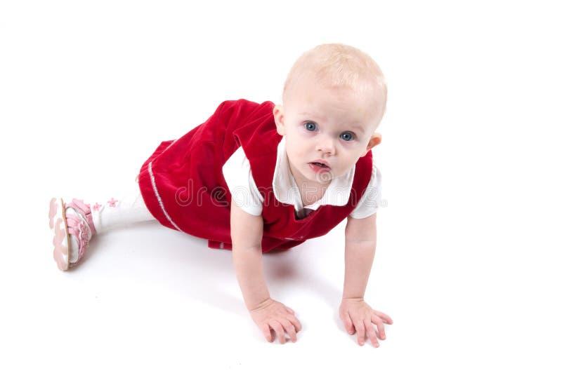 Weinig meisje van de Kerstmisbaby royalty-vrije stock fotografie