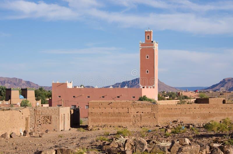 Weinig moskee in Marokko royalty-vrije stock foto
