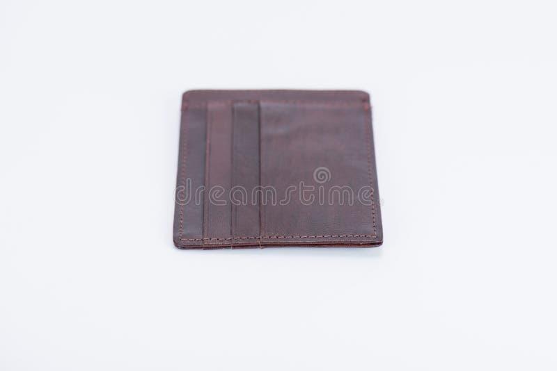 weinig nieuwe portefeuille donkere bruin stock foto's
