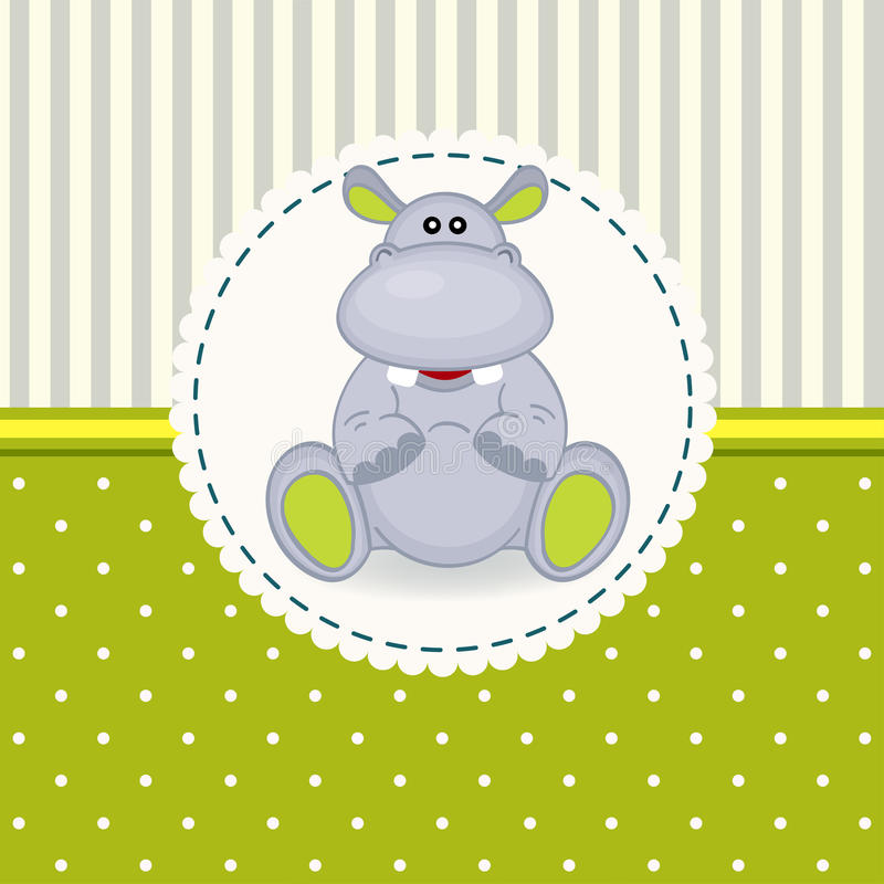 Weinig nijlpaardbaby stock illustratie