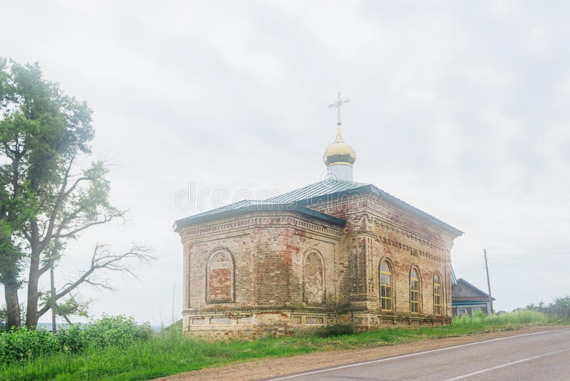 Weinig orthodoxe kerk stock foto's