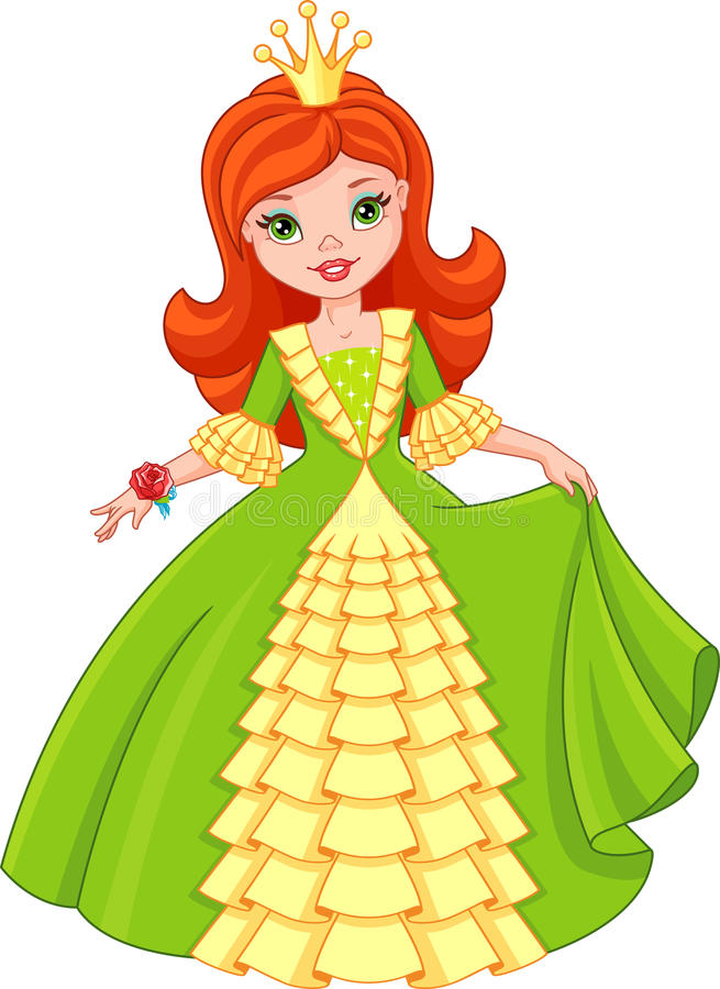 Weinig Prinses stock illustratie